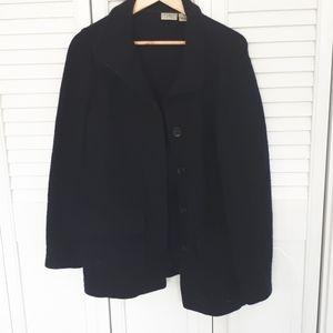 Llbean navy coat. Size M.  Wool